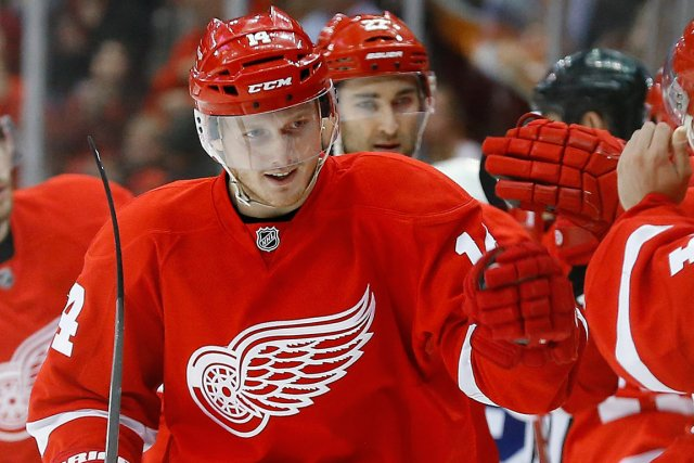 Wings' rookie sensation, Gustav Nyquist